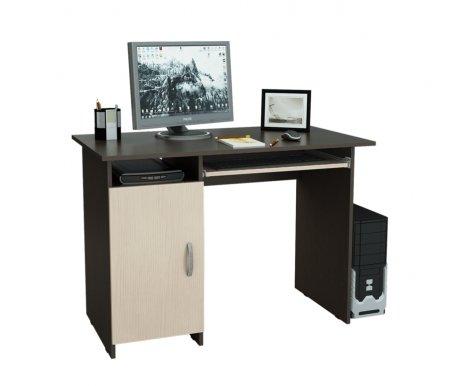 Компьютерный стол Милан-8 МСТ-СДМ-08-##-16 венге / дуб молочныйКомпьютерные столы<br>Выдвижные ящики на роликовых направляющих.<br>Размещение тумбы возможно как с правой, так и с левой стороны.При заказе необходимо выбрать нужный вариант.<br>