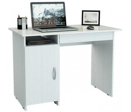 Компьютерный стол Милан-8Я МСТ-СДМ-8Я-##-16 белыйКомпьютерные столы<br>Ящики на роликовых направляющих.<br>