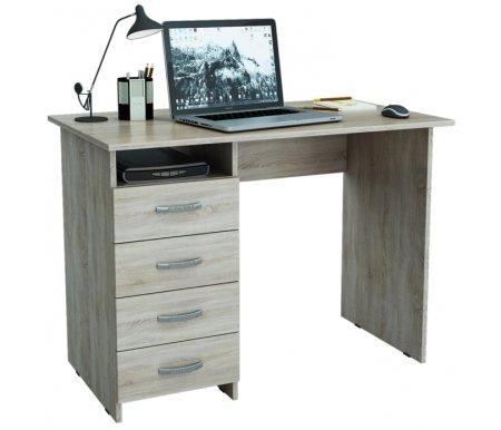 Компьютерный стол Милан МСТ-СДМ-00-##-16 дуб сономаКомпьютерные столы<br>Все ящики на роликовых направляющих.Данную модель можно выполнить с ящиками как с правой, так и с левой стороны.<br>