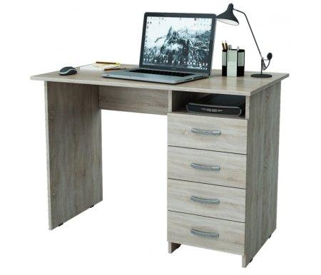 Компьютерный стол Милан МСТ-СДМ-00-##-16-ПР дуб сонома Мастер