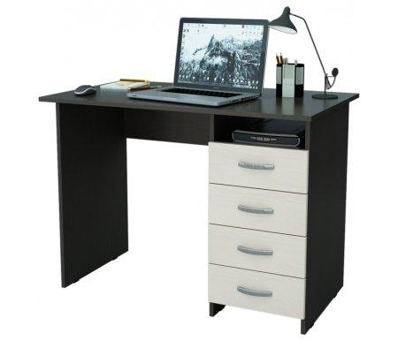 Компьютерный стол Милан МСТ-СДМ-00-##-16-ПР венге / дуб молочныйКомпьютерные столы<br>Все ящики на роликовых направляющих.Данную модель можно выполнить с ящиками как с правой, так и с левой стороны.<br>