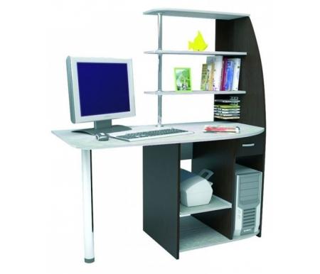 Купить Компьютерный стол БТС-мебель, Скай венге / лоредо