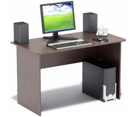 Компьютерный стол СПМ-02Компьютерные столы<br>Компьютерный стол СПМ-02 - традиционный стол для офиса или дома. Края столешницы скруглены.Торцы деталей отделаны противоударным кантом ПВХ. <br> <br>  <br> <br> <br>Вес стола в упаковке - 23 кг.<br> <br> <br>  <br> <br> <br>Стол поставляется в разобранном виде (1 упаковка).<br><br>Длина: 120 см<br>Ширина: 63 см<br>Высота: 74 см<br>Материал: ЛДСП<br>Цвет: испанский орех, ольха, ноче-экко, дуб венге<br>Вес: 23 кг