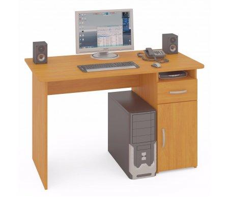 Компьютерный стол СПМ-03Компьютерные столы<br>Компьютерный стол СПМ-03 - классический стол для офиса или дома. Встроенная тумба оснащена открытой нишей, выдвижным ящиком для канцелярских и письменных принадлежностей и закрытой полкой. Стол универсален при сборке (вы можете расположить тумбу как справа, так и слева). Края столешницы скруглены и отделаны противоударным кантом ПВХ. <br> <br>  <br> <br> <br>Вес стола в упаковке - 40 кг.<br><br>Размер ящика - 21,1 см х 35,4 см.<br> <br> <br>  <br> <br> <br>Стол поставляется в разобранном виде (1 упаковка).<br><br>Длина: 120 см<br>Ширина: 60 см<br>Высота: 74 см<br>Материал: ЛДСП<br>Цвет: испанский орех, ольха, ноче-экко, дуб венге<br>Вес: 37 кг