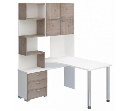 Компьютерный стол СР-500М-140 белый жемчуг / нельсон со столешницей белый жемчугКомпьютерные столы<br><br>