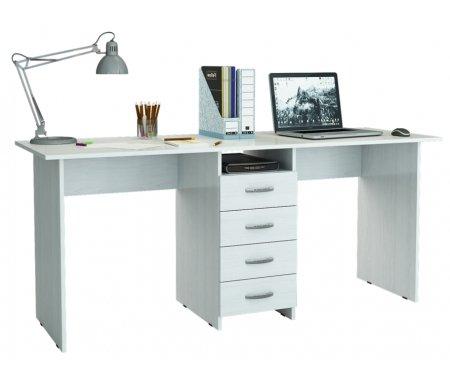 Компьютерный стол Тандем-2 МСТ-СДТ-02-##-16 белыйКомпьютерные столы<br>Выдвижные ящики на роликовых направляющих.<br>