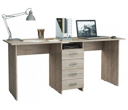 Компьютерный стол Тандем-2 МСТ-СДТ-02-##-16 дуб сономаКомпьютерные столы<br>Выдвижные ящики на роликовых направляющих.<br>