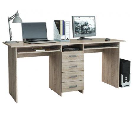 Компьютерный стол Тандем-2П МСТ-СДТ-2П-##-16 дуб сономаКомпьютерные столы<br>Выдвижные ящики на роликовых направляющих.<br>