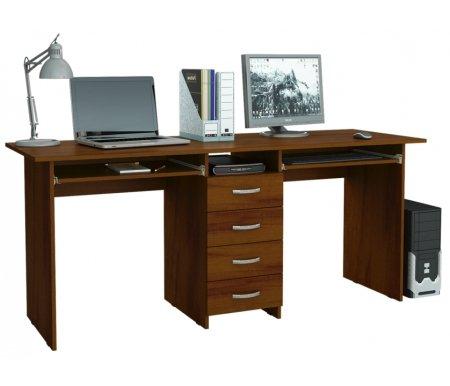 Компьютерный стол Тандем-2П МСТ-СДТ-2П-##-16 орехКомпьютерные столы<br>Выдвижные ящики на роликовых направляющих.<br>