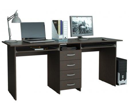 Компьютерный стол Тандем-2П МСТ-СДТ-2П-##-16 венгеКомпьютерные столы<br>Выдвижные ящики на роликовых направляющих.<br>