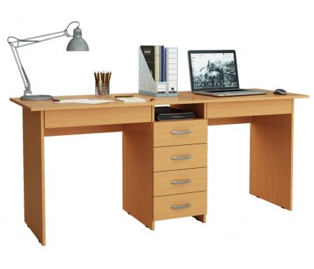 Компьютерный стол Тандем-2Я МСТ-СДТ-2Я-##-16 букКомпьютерные столы<br>Под столом расположены вместительные ящики. Все ящики на роликовых направляющих.<br>