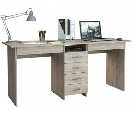 Компьютерный стол Тандем-2Я МСТ-СДТ-2Я-##-16 дуб сономаКомпьютерные столы<br>Под столом расположены вместительные ящики. Все ящики на роликовых направляющих.<br>