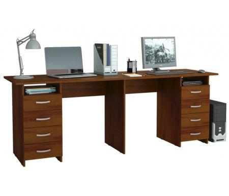 Компьютерный стол Тандем-3 МСТ-СДТ-03-##-16 орехКомпьютерные столы<br>Выдвижные ящики на роликовых направляющих.<br>