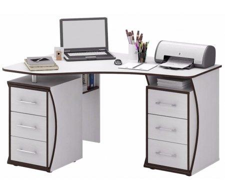 Компьютерный стол Триан-41 МСТ-УСТ-41-##-16 белыйКомпьютерные столы<br>Выдвижные ящики на роликовых направляющих. <br> <br>      <br>     <br> <br>Срок изготовления - 7 рабочих дней!<br>