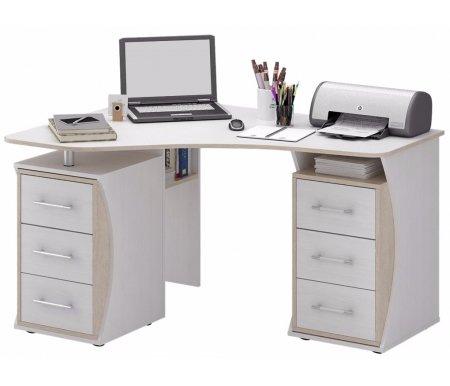Компьютерный стол Триан-41 МСТ-УСТ-41-##-16 белый / дуб сономаКомпьютерные столы<br>Выдвижные ящики на роликовых направляющих. <br> <br>      <br>     <br> <br>Срок изготовления - 7 рабочих дней!<br>