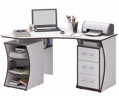 Компьютерный стол Триан-42 МСТ-УСТ-42-##-16 белыйКомпьютерные столы<br>Выдвижные ящики на роликовых направляющих. <br> <br>      <br>     <br> <br>Срок изготовления - 7 рабочих дней!<br>