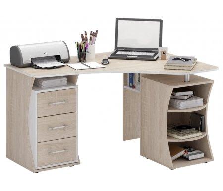 Компьютерный стол Триан-42 МСТ-УСТ-42-##-16-ПР правый дуб сонома / белыйКомпьютерные столы<br>Выдвижные ящики на роликовых направляющих. <br> <br>      <br>     <br> <br>Срок изготовления - 7 рабочих дней!<br>