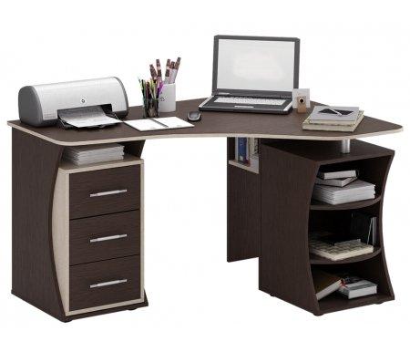 Компьютерный стол Триан-42 МСТ-УСТ-42-##-16-ПР правый венге / дуб сономаКомпьютерные столы<br>Выдвижные ящики на роликовых направляющих. <br> <br>      <br>     <br> <br>Срок изготовления - 7 рабочих дней!<br>