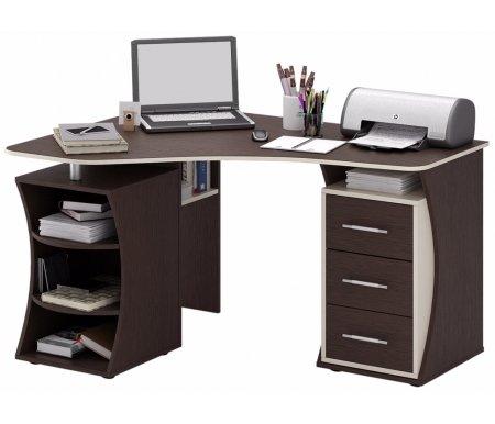 Компьютерный стол Триан-42 МСТ-УСТ-42-##-16 венге / дуб молочныйКомпьютерные столы<br>Выдвижные ящики на роликовых направляющих. <br> <br>      <br>     <br> <br>Срок изготовления - 7 рабочих дней!<br>