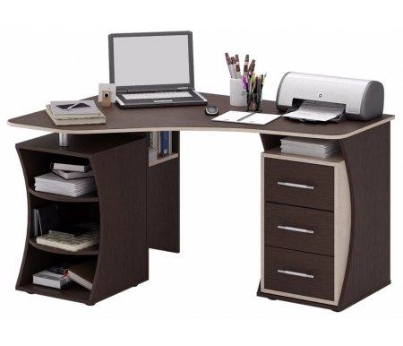 Компьютерный стол Триан-42 МСТ-УСТ-42-##-16 венге / дуб сономаКомпьютерные столы<br>Выдвижные ящики на роликовых направляющих. <br> <br>      <br>     <br> <br>Срок изготовления - 7 рабочих дней!<br>