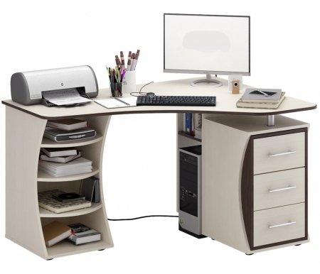 Компьютерный стол Триан-43 МСТ-УСТ-43-##-16-ПР правый дуб молочный / венгеКомпьютерные столы<br>Выдвижные ящики на роликовых направляющих. <br> <br>      <br>     <br> <br>Срок изготовления - 7 рабочих дней!<br>