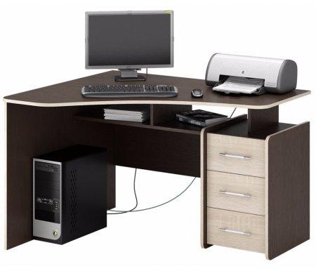 Компьютерный стол Триан-5 МСТ-УСТ-05-##-16 венге / дуб сономаКомпьютерные столы<br>Выдвижные ящики на роликовых направляющих. <br> <br>      <br>     <br> <br>Срок изготовления - 7 рабочих дней!<br>