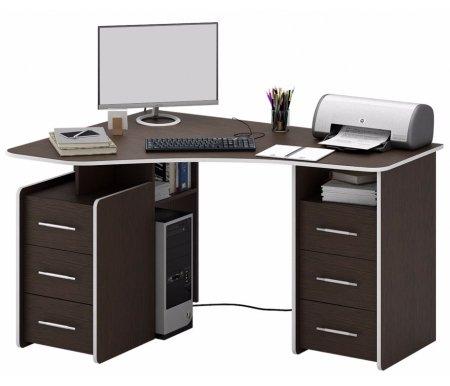 Компьютерный стол Триан-6 МСТ-УСТ-06-##-16 венгеКомпьютерные столы<br>Выдвижные ящики на роликовых направляющих. <br> <br>      <br>     <br> <br>Срок изготовления - 7 рабочих дней!<br>