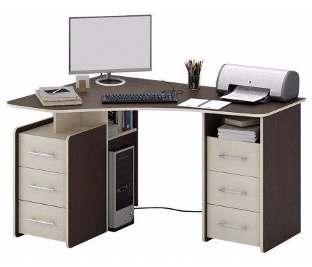 Компьютерный стол Триан-6 МСТ-УСТ-06-##-16 венге / дуб молочныйКомпьютерные столы<br>Выдвижные ящики на роликовых направляющих. <br> <br>      <br>     <br> <br>Срок изготовления - 7 рабочих дней!<br>