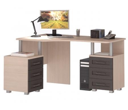 Здесь можно купить (левый) СОЛО-025  Стол компьютерный Васко Компьютерные столы