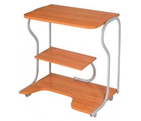 Стол компьютерный ПегасКомпьютерные столы<br>Несмотря на компактность конструкции, стол компьютерный Практик-4 способен вместить монитор, системный блок и принтер. <br>Диаметр трубы 16 мм.<br><br>Длина: 79 см<br>Ширина: 50 см<br>Высота: 75 см<br>Материал: ЛДСП<br>Цвет: вишня, венге, тёмный орех<br>Вес: 16 кг<br>Объём: 0,044 куб. м