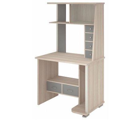 Стол компьютерный СК-10Компьютерные столы<br>Стол компьютерный СК-10 - это универсальная и компактная модель, которая подойдет для небольших комнат.<br> <br>  Толщина столешницы составляет 2,5 см.<br> <br>  Максимальный размер для монитора 60 см х 48 см.<br><br>Длина: 89 см<br>Ширина: 62 см<br>Высота: 161,1 см<br>Материал: ЛДСП<br>Цвет: бук, венге, карамель, локарно