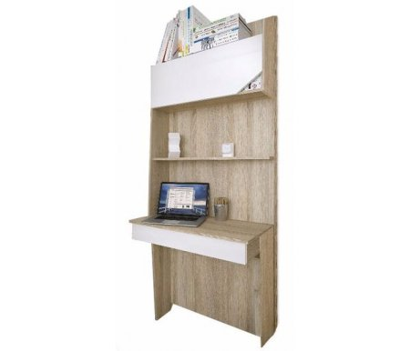 Стол консоль Аванти 703Компьютерные столы<br>Стол-консоль Аванти 703 включает стол для ноутбука с удобным выдвижным ящиком, закрытую и открытую верхние полки, заднюю панель в цвет корпуса.<br>