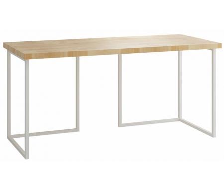 Board 160 х 70 см столешница бук / ножки белые  Стол письменный ОГОГО Обстановочка