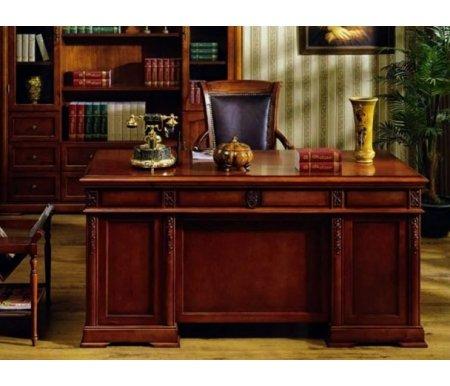 Стол письменный C05Компьютерные столы<br>Классический письменный стол СО5 входит в коллекцию мебели Валенсия. <br>Такая модель будет отлично смотреться практически в любом интерьере, привлекать внимание и подчеркивать статус владельца.<br><br>Длина: 160 см<br>Ширина: 80 см<br>Высота: 78 см<br>Материал: массив тополя, МДФ, шпон<br>Цвет: 1049# (темный орех), Z01 (вишня)