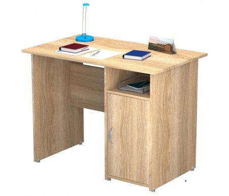 Стол письменный ПС 40-09 М1Компьютерные столы<br><br><br>Длина: 100 см<br>Ширина: 60 см<br>Высота: 77 см<br>Материал: ЛДСП<br>Цвет: дуб сонома, орех валенсия, венге / молочный дуб<br>Вес: 33 кг