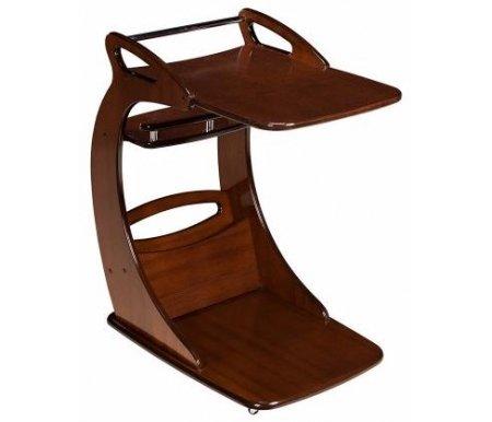 Подкатной столик Фаворит орехСервировочные столы<br>Придиванный столик выполнен из МДФ и покрыт натуральным шпоном ясеня.<br>