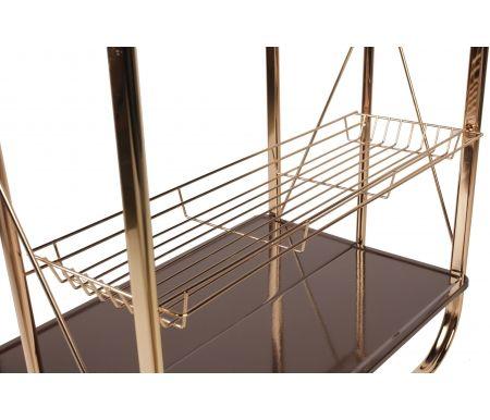 Складной сервировочный стол Lira коричневый от ЛайфМебель