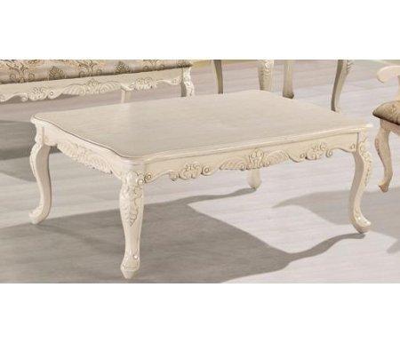 Стол кофейный 20920Журнальные столы<br><br><br>Длина: 120 см<br>Ширина: 80 см<br>Высота: 47 см<br>Материал: массив гевеи<br>Цвет: antique white (античный белый), ivory (слоновая кость)