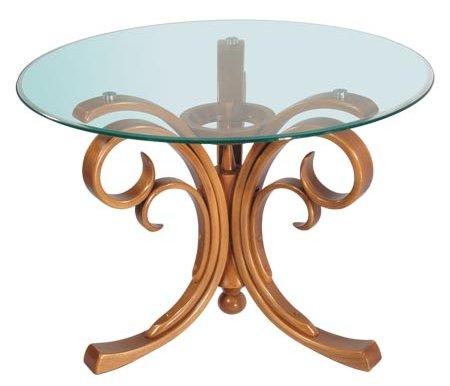 Журнальный стол БаронЖурнальные столы<br>Журнальный стол Барон - это круглый стол с фигурными основанием из дерева и стеклянной столешницей.<br> <br>Небольшой, выполненный в классическом стиле, стол украсит интерьер.<br>