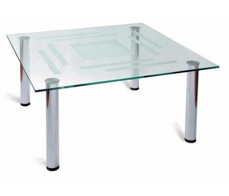 Столик журнальный Робер 8МЖурнальные столы<br>Журнальный стол Робер 8Мизготовлен изстекла и металла. Отлично подойдет для офиса или личного кабинета. Строгие формы делает эту модель идеальным решением для помещений в стиле хай-тек и минимализм.<br>