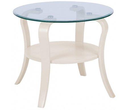 Купить Журнальный стол Мебелик, Аннетт стекло бежевое