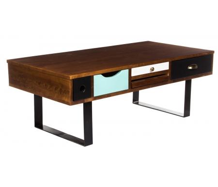 Купить Журнальный стол Этажерка, Aquarelle Birch RE-20ETG/4, черный / темный орех / разноцветный