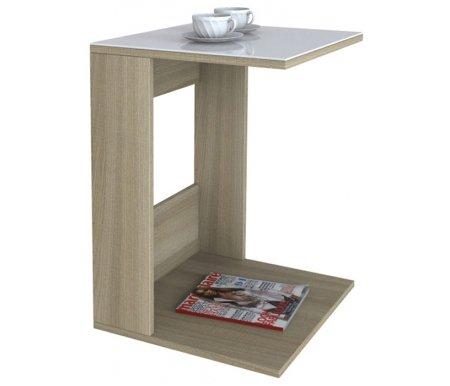 Купить Журнальный стол Мебелик, BeautyStyle 3 сонома / стекло белое