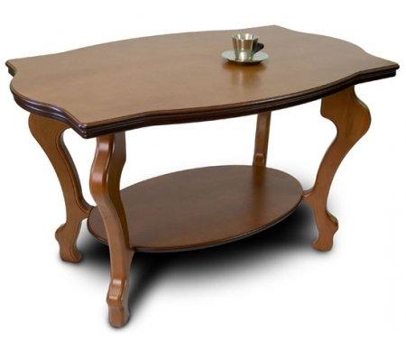 Журнальный стол Берже-1Журнальные столы<br>Журнальный стол Берже-1исполнен в классическом стиле из натурального дерева, изготовлен в цвете слоновая кость, средне-коричневом и темно-коричневом цвете. Столешница сделана из МДФ и покрыта шпоном натурального дуба. Этот столик станет отличным дополнением для вашей гостиной. <br> <br>  <br> <br> <br>Размер нижней полки: 60 см х 40 см.<br><br>Цвет: Средне-коричневый<br>Цвет: Темно-коричневый<br>Цвет: Слоновая кость