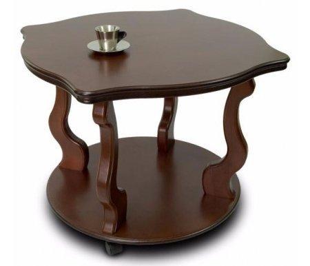Купить Журнальный стол Мебелик, Берже 4 на колесах, темно-коричневый