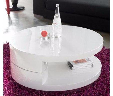 Журнальный стол CT-042 белый лакЖурнальные столы<br>Стильный и современныйжурнальный стол CT-042 изготовлен из МДФ и полностью покрыт белым лаком. Идеально впишется в помещения в стиле хай-тек или минимализма. Будет идеальным дополнением к гостиной или коридору.<br>