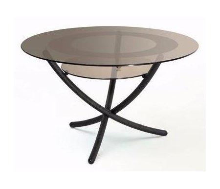 Журнальный стол Дуэт 4Журнальные столы<br>Размер полки: 40 см х 40 см. <br>Расстояние между полкой и столешницей: 15 см.<br><br>Цвет: Прозрачное стекло<br>Цвет: Тонированное стекло