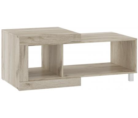 Купить Журнальный стол НК мебель, Генезис дуб серый крафт / дуб белый крафт, дуб серый крафт / белый глянец