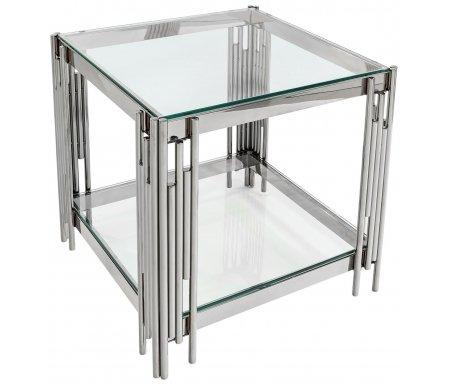 Купить Журнальный стол Стул Груп, Лонг-Айленд / Гэтсби EET-027 прозрачное стекло / серебро