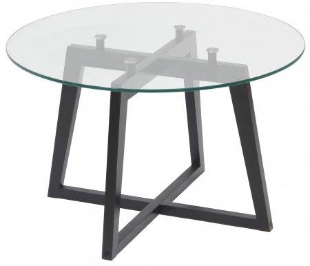 Купить Журнальный стол Мебелик, Рилле 445 венге / стекло прозрачное круглое